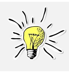 Conceptual hand drawn representation of an idea or vector image