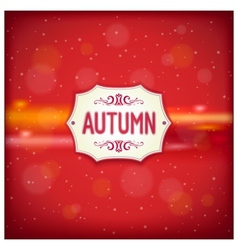 Autumn retro label vector