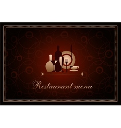 luxury template for a restaurant menu vector image