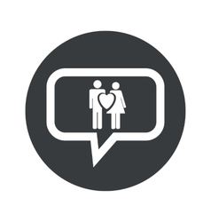 Round love couple dialog icon vector