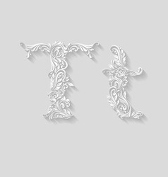 Decorated letter t vector image