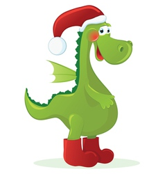 New year dragon - santa claus vector