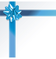 Blue present and ribbon background vector