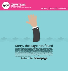 Page not found error 404 vector