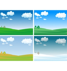 Seasons landscape vector