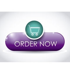 Buy online button design vector