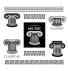 Greek colony and ornaments vector