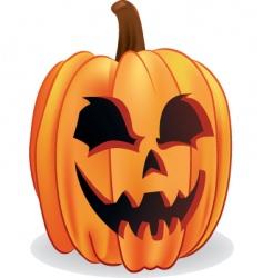 Halloween Jack-o-lantern vector image