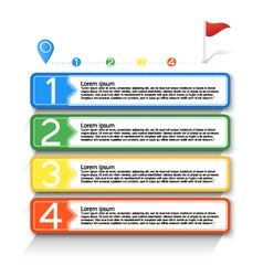 Infographic workflow layout vector image