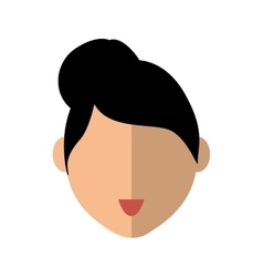 Woman head icon person design graphic vector