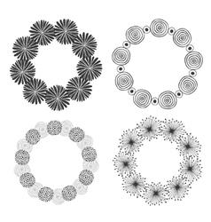 Hand drawn doodle frames decorative vector image
