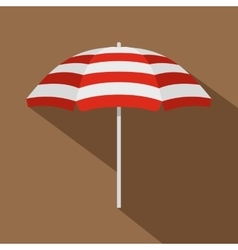 Beach umbrella icon flat style vector