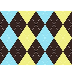 Brown argyle seamless pattern vector image