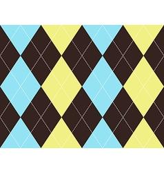Brown argyle seamless pattern vector