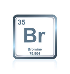 Chemical element bromium from the periodic table vector
