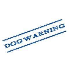 Dog warning watermark stamp vector