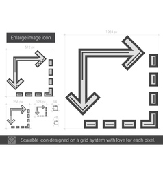Enlarge image line icon vector