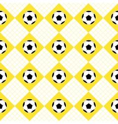 Football ball yellow white chess board diamond vector