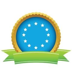 Gold European Union logo vector image