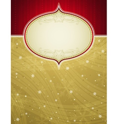golden christmas background with snowflakes vector image vector image
