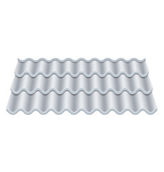 Grey corrugated tile classic ceramic tiles vector