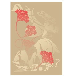 ial is floral background vector image