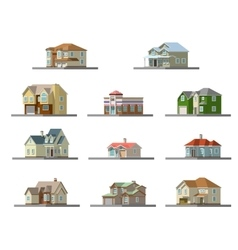 image of a private house flat vector image