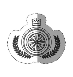 Isolated bike wheel design vector