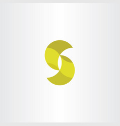 letter s icon logotype yellow sign vector image vector image