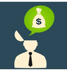 Man thinks about big money vector image vector image