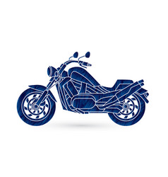 motorbike side view vector image vector image