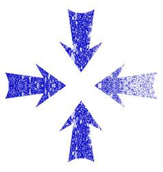 Reduce arrows grunge textured icon vector
