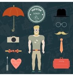 Set hipster vector image