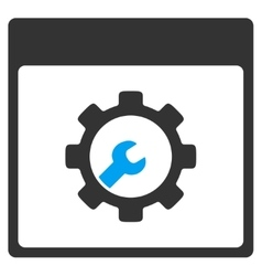 Setup tools calendar page toolbar icon vector