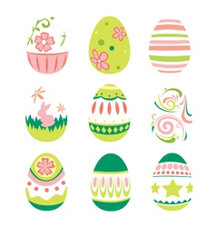 Simple Style Easter Eggs for Happy Easter vector image