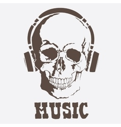 skull Music style vector image vector image