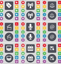 Tag wi-fi scales clapper microphone mail monitor vector