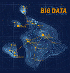 Terrain big data visualization vector