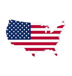 Usa flag map contour flat style vector