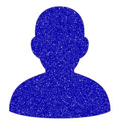 User icon grunge watermark vector