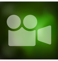Video icon on blurred background vector