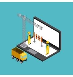 Website under construction design vector