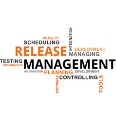 Word cloud - release management vector