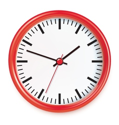 Red wall clocks vector image