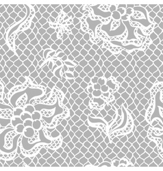 Seamless lace pattern with flowers vintage vector