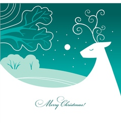 Background with christmas reindeer vector
