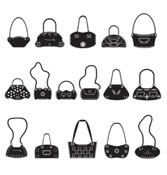 Black icons female bags vector image