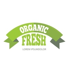 Green organic natural eco label vector