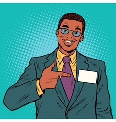 Businessman Manager with a name badge vector image