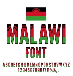 Malawi flag font vector